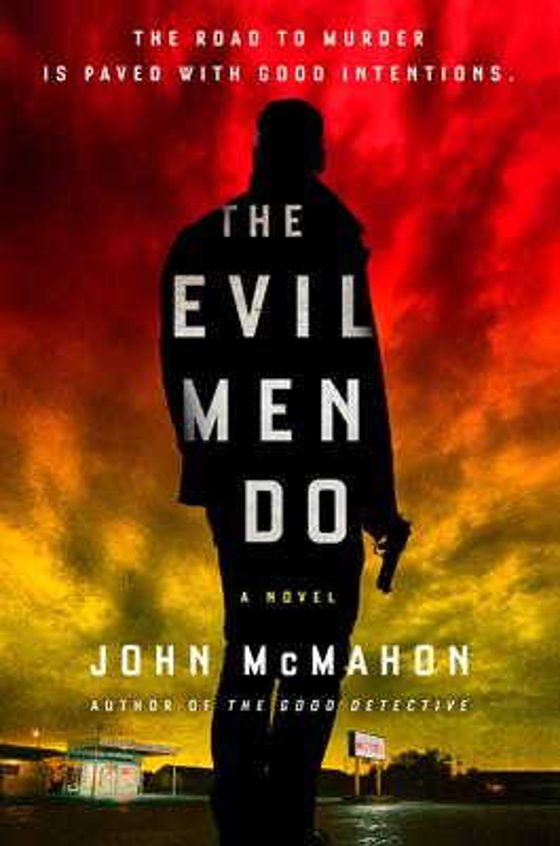 John McMahon signs THE EVIL MEN DO @ The Poisoned Pen Bookstore